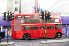 Red vintage bus in London. Stock Image