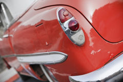 Red vintage car. Stock Photo