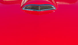 Red vintage car bonnet Royalty Free Stock Photos