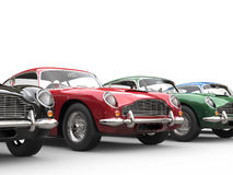Red vintage car stands out Stock Photography