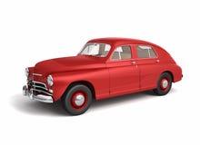 Red vintage car. On white background vector illustration