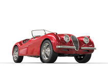 Red vintage car on white background Stock Photo