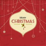 Red vintage christmas background Stock Images