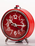 Red Vintage Clock Stock Photos