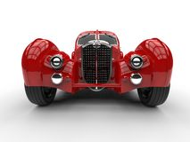 Red Vintage Concept Car - Front View Stock Photography