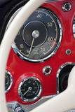 Red vintage dashboard Stock Photo