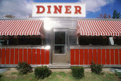 Red Vintage Diner. Railroad roadside diner near Route 169, Connecticut Stock Photography