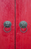 Red vintage door Royalty Free Stock Photography