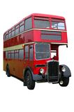 Red Vintage Double decker Royalty Free Stock Image
