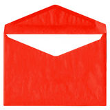 Red vintage envelope isolated on white Royalty Free Stock Image