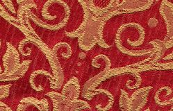 Red vintage fabric Royalty Free Stock Photo