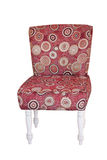 Red vintage fabric chair isolated Royalty Free Stock Photo