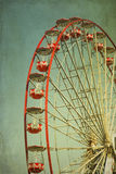 Red Vintage ferry wheel stock photos