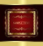 Red vintage frame. Vector illustration Royalty Free Stock Image
