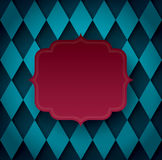 Red vintage frame on blue background. Can be used in cover design, book design, website background, CD cover, advertising Stock Images
