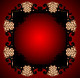 Red Vintage Frame Design For Greeting Card. Eps10. Stock Photography