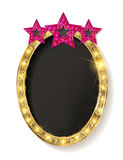 Red vintage frame with three stars Stock Image