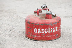 Red Vintage Gasoline Can Stock Photography