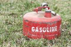 Red Vintage Gasoline Can Royalty Free Stock Images