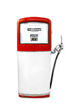 Red vintage gasoline pump over white background Stock Photography
