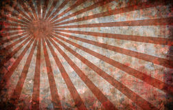 Red vintage grunge background with sun rays Royalty Free Stock Images