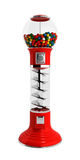 Red vintage gumball dispenser machine made of glass and reflecti Royalty Free Stock Image