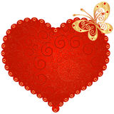 Red Vintage Heart Stock Image
