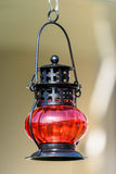 Red Vintage Lamp royalty free stock photo