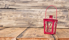 Red vintage lamp Royalty Free Stock Photos
