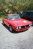 Red Vintage Lancia Fulvia Royalty Free Stock Photos