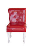 Red vintage leather chair isolated Royalty Free Stock Photography