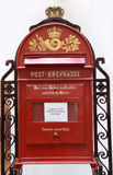 Red vintage mailbox. Stock Image