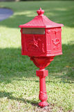 Red vintage mailbox Stock Photo