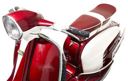 Red vintage motor scooter Royalty Free Stock Photography