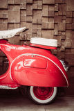 Red vintage motorcycle Stock Photo