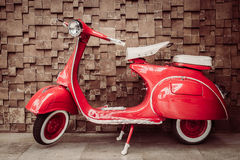Red vintage motorcycle Stock Photography