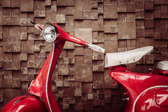Red vintage motorcycle Royalty Free Stock Images