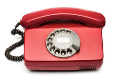 Red vintage phone Royalty Free Stock Photography