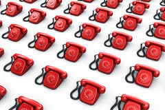 Red vintage phones Stock Image