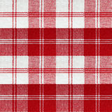 Red vintage picnic pattern. Seamless red white checkered retro picnic table cloth Stock Photo