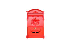 Red vintage post box isolated Stock Photography
