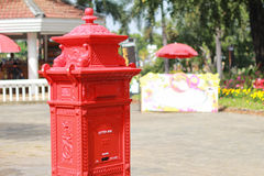 Red vintage post box Royalty Free Stock Images