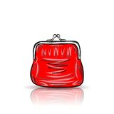 Red vintage purse Stock Photo
