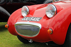 Red vintage racing sports car Stock Photos
