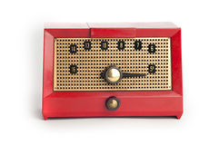 Red Vintage Radio Stock Photos
