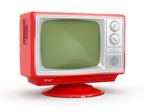 Red vintage retro tv Royalty Free Stock Photos