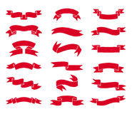 Red vintage ribbons Royalty Free Stock Photography