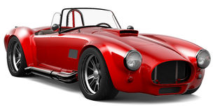 Red vintage roadster Stock Images