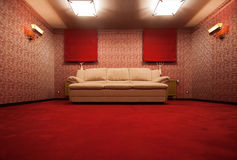 Red vintage room Stock Images