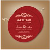 Red Vintage Round Card Royalty Free Stock Photography